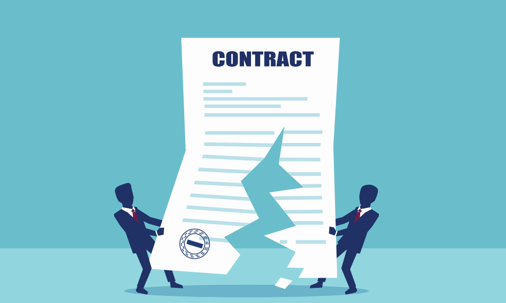 Proper termination of an existing contract